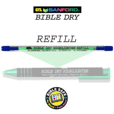 Refill for Green Dry Bible Highlighter 60263X   -