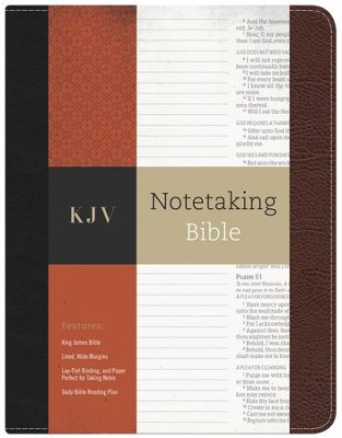 KJV Notetaking Bible--bonded leather, black/brown  -