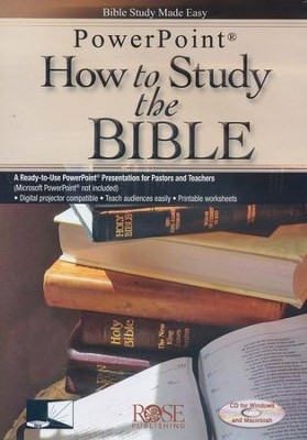 How to Study the Bible, Powerpoint CD-ROM  -