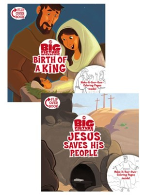 The Birth of a King/Jesus Saves His People Flip-Over Book  -