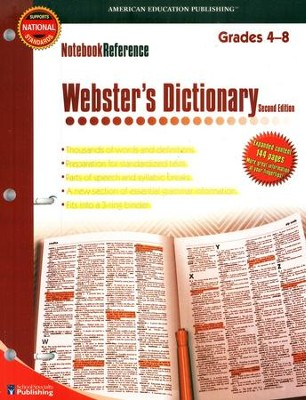 Notebook Reference Webster's Dictionary   -