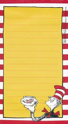 Dr. Seuss Classic Note Pad   -