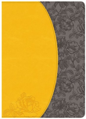 Holman Study Bible: NKJV Edition, Canary and Slate Grey LeatherTouch, Thumb-Indexed  -