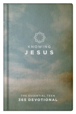 Knowing Jesus: The Essential Teen 365 Devotional, Blue Hardcover  -