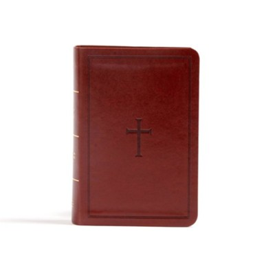 CSB Large Print Compact Reference Bible, Brown LeatherTouch  -