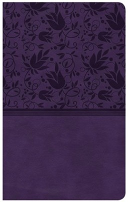 CSB Ultrathin Reference Bible, Purple LeatherTouch  -