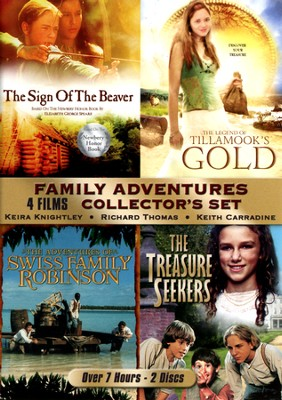 Family Adventures Collection (The Sign of the Beaver, Swiss Family Robinson, Tillamook's Gold, and The Treasure Seekers) - 2 pack  -