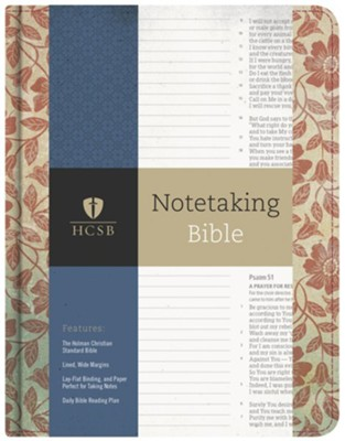 HCSB Notetaking Bible, Red Floral Cloth  -