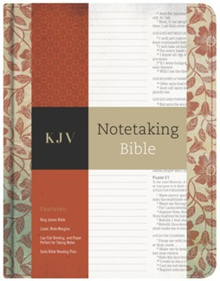 KJV Notetaking Bible, Red Floral Cloth  -