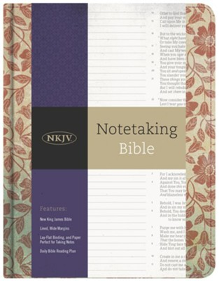 NKJV Notetaking Bible, Red Floral Cloth  -