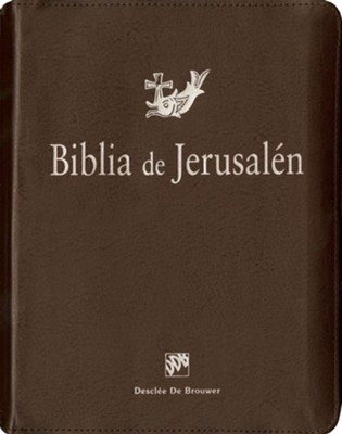 Biblia de Jerusalen: Nueva Ed., Piel Imit. Marron con Cremallera  (The Jerusalem Bible: New Ed.,  Brown Imit. Leather, Zipper)  -