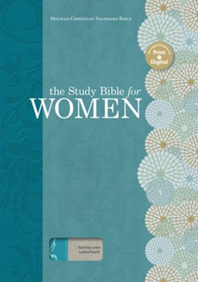 HCSB The Study Bible for Women, Teal and Gray Linen  -