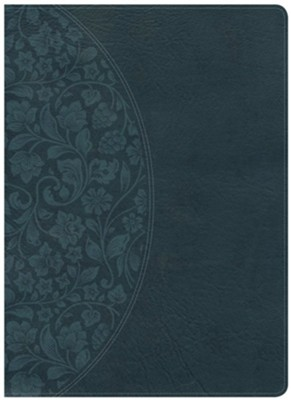 KJV Study Bible Large Print Edition, Dark Teal LeatherTouch, Thumb-Indexed  -