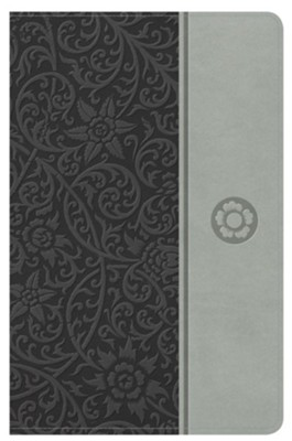 NKJV Reader's Reference Bible, Gray Leathertouch  -