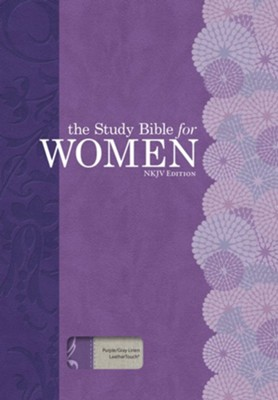 NKJV The Study Bible for Women, Purple and Gray Linen, Thumb-Indexed  -