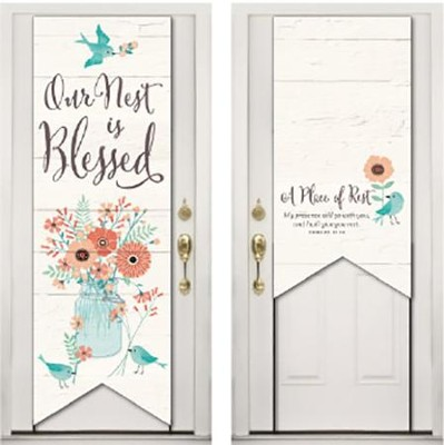 Our Nest Is Blessed Door Decoration  -