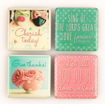 Life is Beautiful, Magnets, Package of 4  -