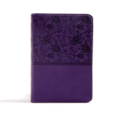 CSB Large Print Compact Reference Bible, Purple LeatherTouch, Thumb-Indexed  -