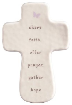 Share Faith, Offer Prayers, Gather Hope Mini Cross  -