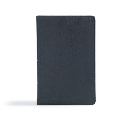 CSB Ultrathin Reference Bible, Black LeatherTouch  -