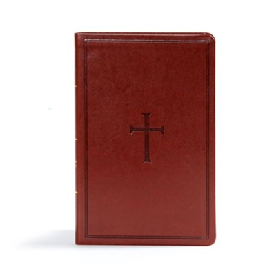 CSB Ultrathin Reference Bible, Brown LeatherTouch  -