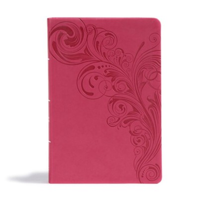 CSB Giant Print Reference Bible, Pink LeatherTouch, Thumb-Indexed  -