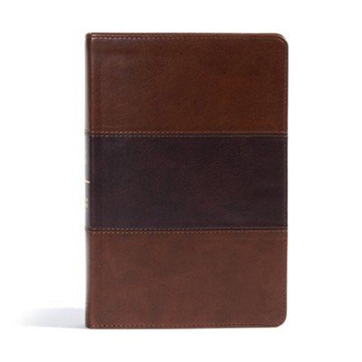 CSB Giant Print Reference Bible, Saddle Brown LeatherTouch  -