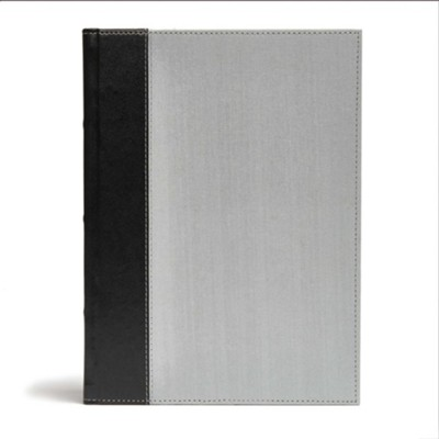 CSB Study Bible, Gray & Black Linen  -