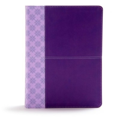 CSB Study Bible, Purple LeatherTouch  -