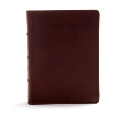CSB Study Bible, Dark Brown, Genuine Leather,  Thumb-Indexed  -