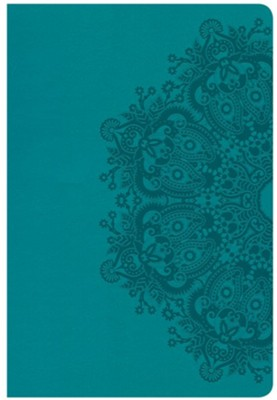 CSB Giant Print Reference Bible, Teal LeatherTouch  -