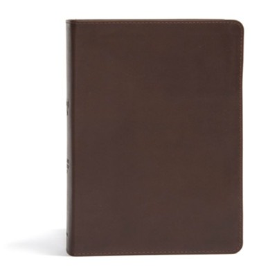 CSB She Reads Truth Bible, Brown Genuine Leather, Thumb-Indexed   -