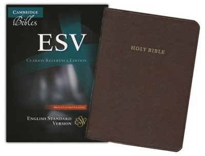 ESV Clarion Reference Bible, Calfskin leather, brown  -