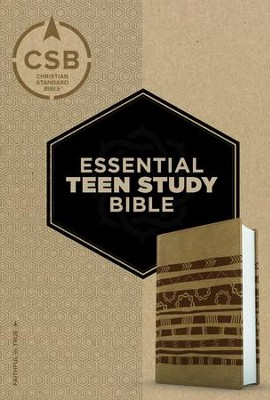 CSB Personal Size Essential Teen Study Bible, Aztec LeatherTouch  -