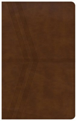 NKJV Ultrathin Reference Bible, Brown Deluxe LeatherTouch, Thumb-Indexed  -