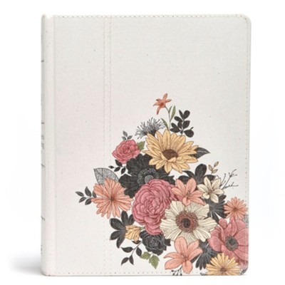 The Illustrator's Notetaking Bible: NKJV Edition, Floral Canvas  -