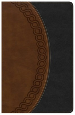 KJV Large Print Personal Size Reference Bible, Black & Brown Deluxe LeatherTouch  -