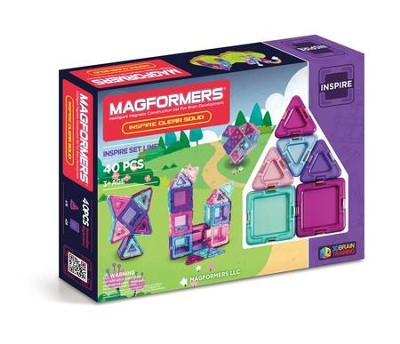 Magformers Inspire Solids, 40 Pieces  -
