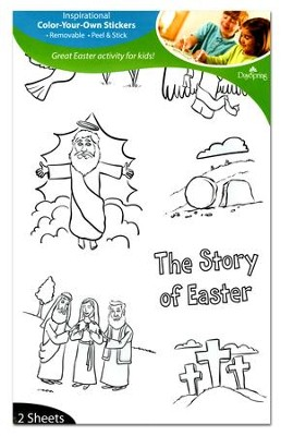 Color-Your-Own Stickers Easter  -