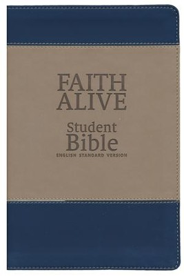 Faith Alive Bible Duo Tone Blue/Tan  -