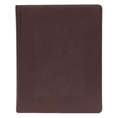 CSB Notetaking Bible, Brown Genuine Leather Over Board  -