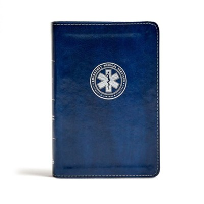 CSB Emergency Medical Services Bible, Navy LeatherTouch  -