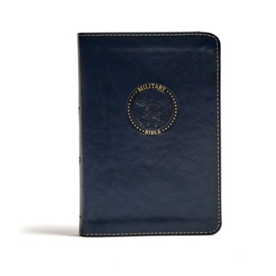 CSB Military Bible, Navy Blue LeatherTouch for Sailors  -