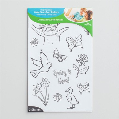 Color-Your-Own Stickers Spring  -
