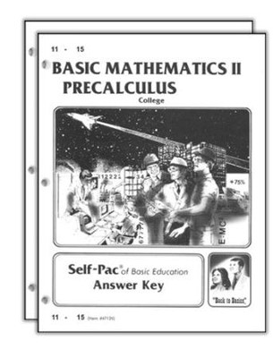 Basic Mathematics II: Precalculus Answer Keys 11-20, Advanced HS/College   -