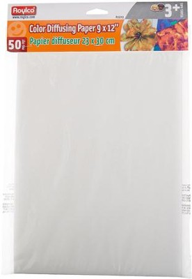 Color Diffusing Paper (9 x 12; 50 sheets)   -
