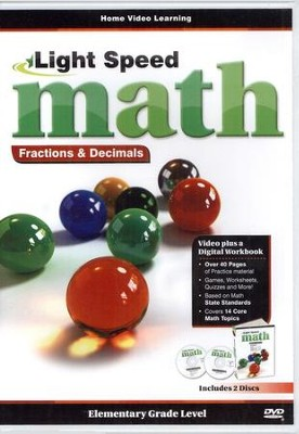 Light Speed Math Fractions & Decimals DVDs   -