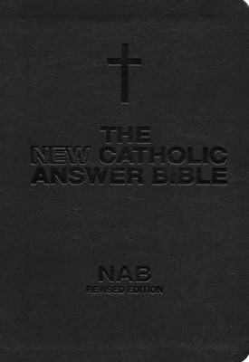 NABRE New Catholic Answer Bible Librosario Edition, Black/Tan Imitation Leather  -