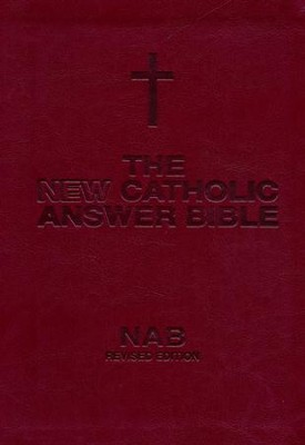 NABRE New Catholic Answer Bible Librosario Edition, Burgundy Imitation Leather  -