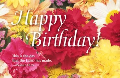 Birthday Bouquet Postcards (Psalm 118:24) - Pack of 25  -